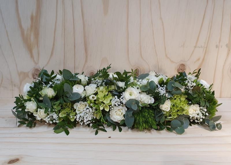 Begrafenis tafelstuk altaarstuk fijn opgestoken