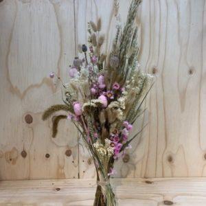 droogbloemenboeket roos begrafenis